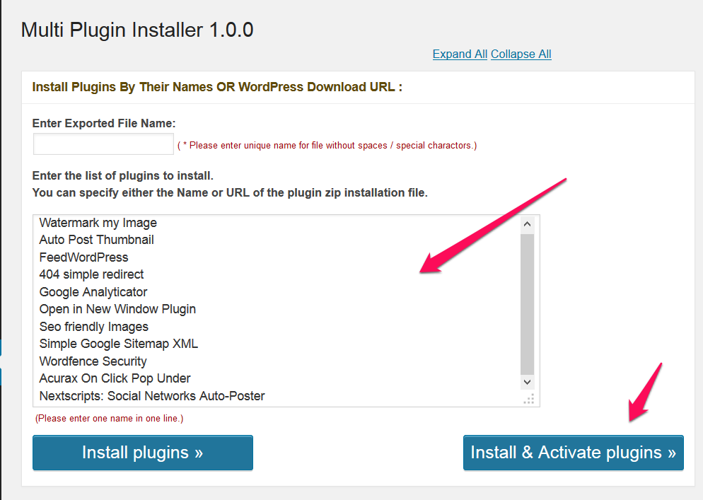 Multi Plugin Installer WordPress