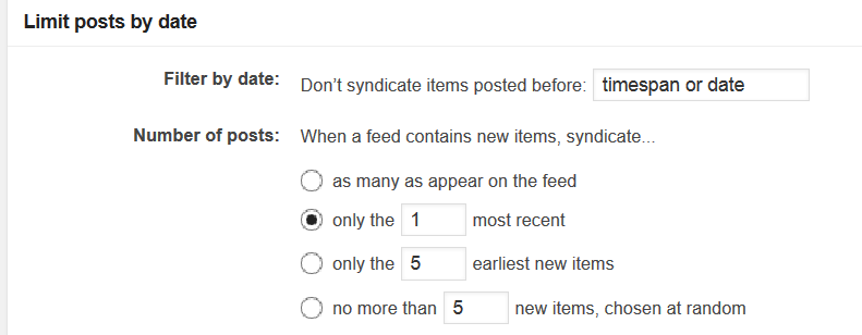 Syndication Limit Posts by Date