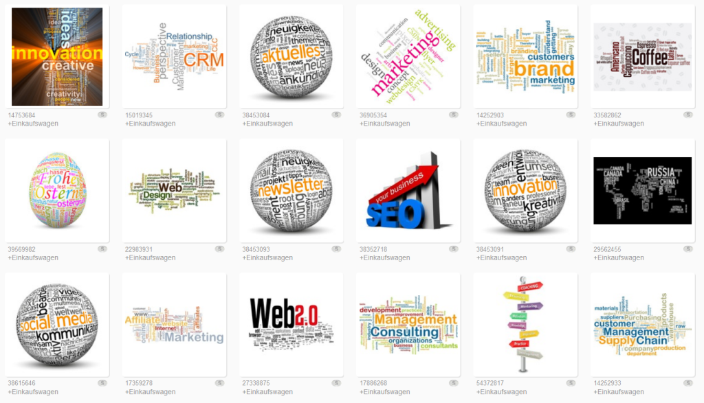 Word clouds on Fotolia.com