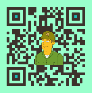 Another example of a custom QR code
